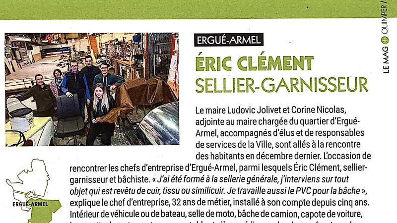 sellier garnisseur eric clement quimper