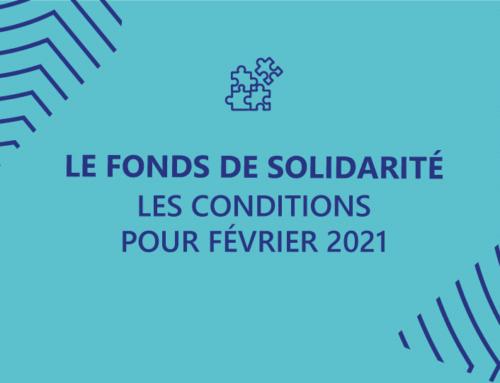 Fonds de solidarité: les conditions de février 2021