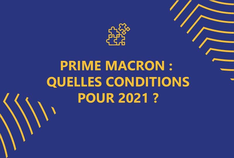 prime macron : quelles conditions