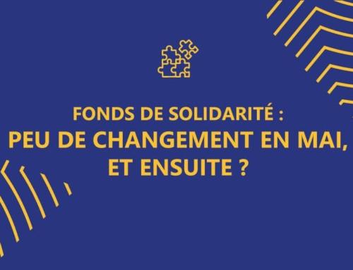 Fonds de solidarité: pas de changement pour le mois de mai, qu'en est-il des mois de juin, juillet, août?